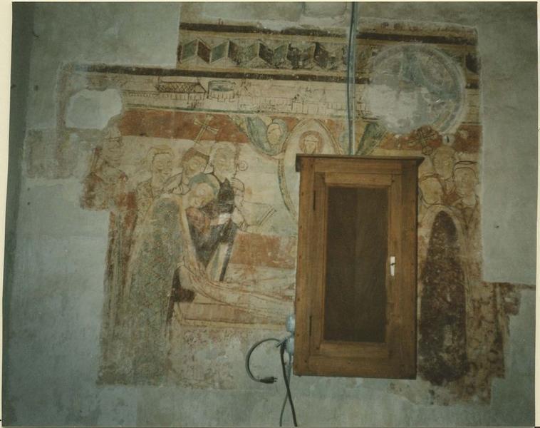 Peinture monumentale : La mort de saint Hilaire, vue générale