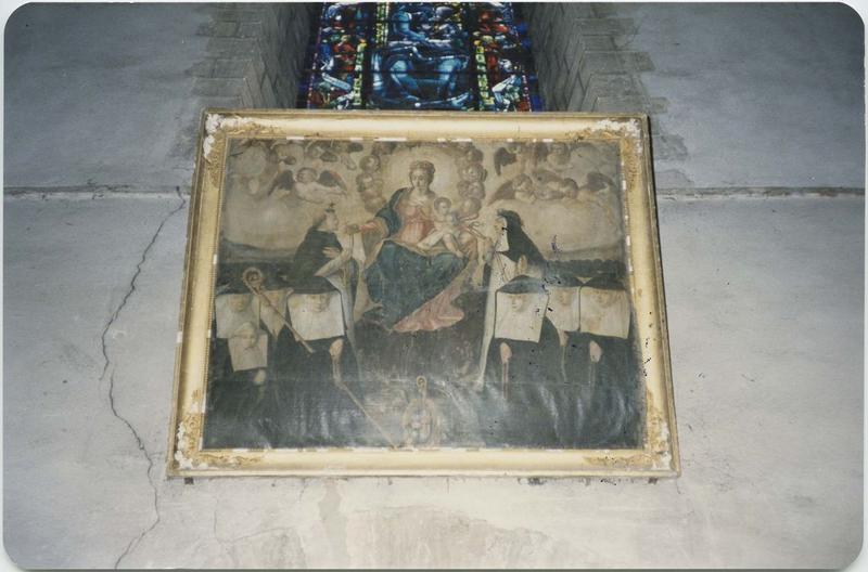 Tableau : La Vierge du rosaire, vue générale