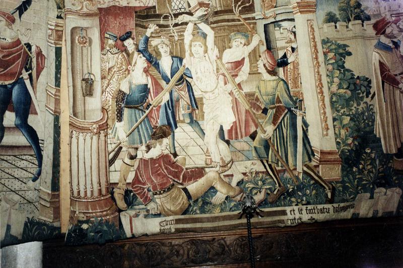 Pièce murale : Scènes de la légende de saint Gervais et saint Protais, vue partielle