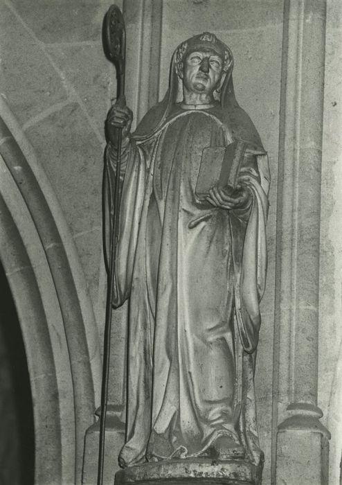 Deux statues : Saint Benoît et Sainte Scolastique