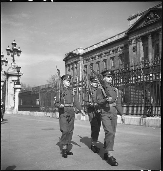 La garde devant les grilles du palais