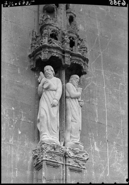 Façade, détail : sculptures