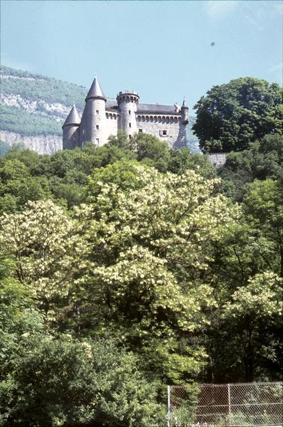 Château savoyard isolé dans la montagne