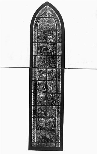 Verrière : Saint Georges, saint Blaise, saint Thomas Becket