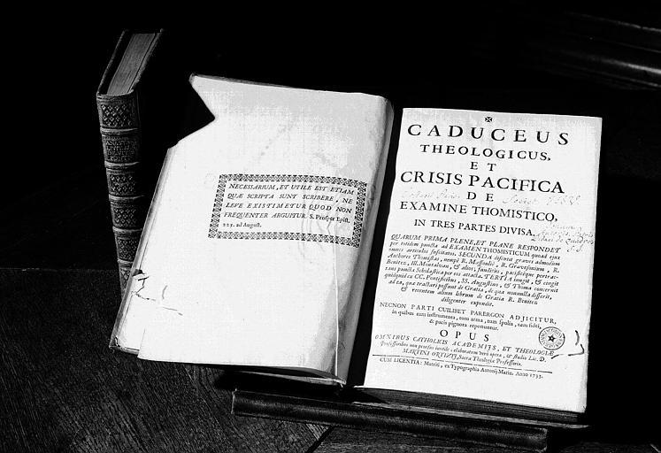Livre : Caduceus theologius et Crisis pacifica, par P. M. Ortiz