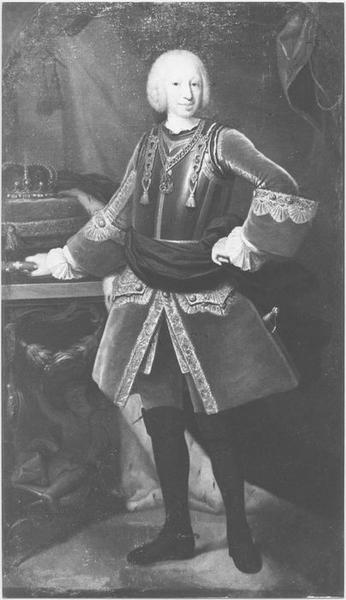 Tableau : portrait de Charles Emmanuel III de Sardaigne, vue générale