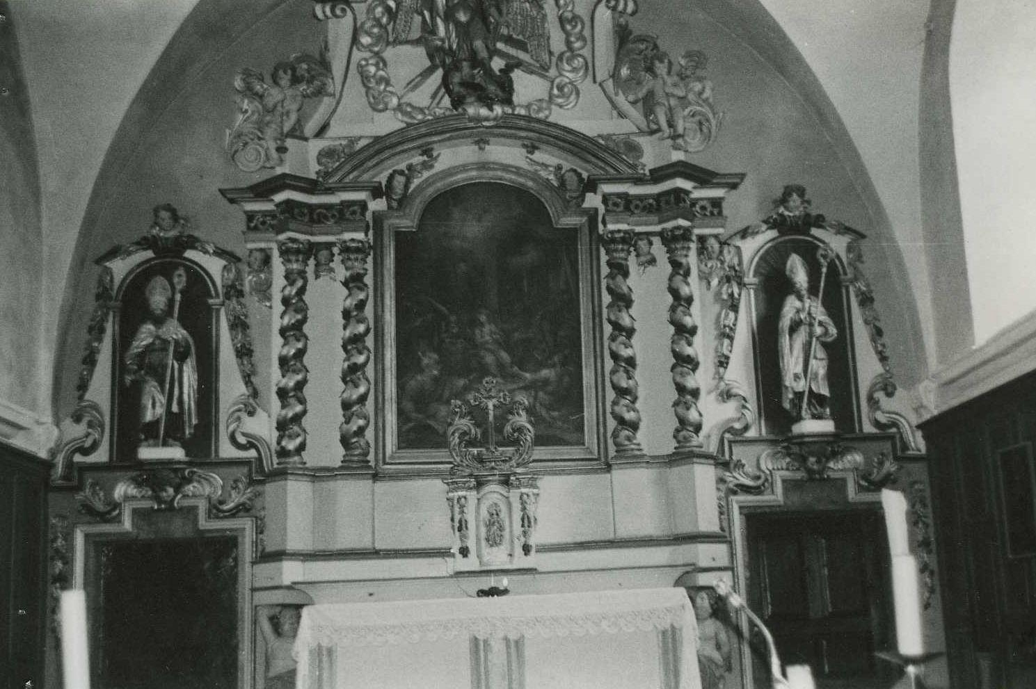 retable du maître-autel et son tableau : Pentecôte