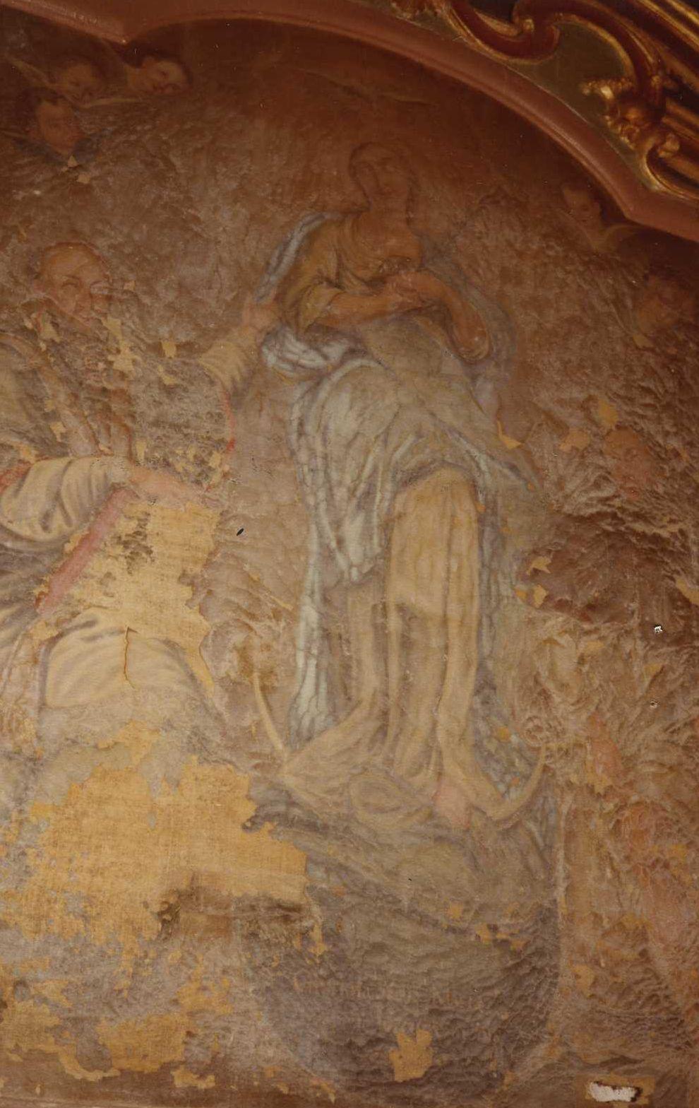 retable et tableau : La Vierge avec saint François de Sales et saint Roch