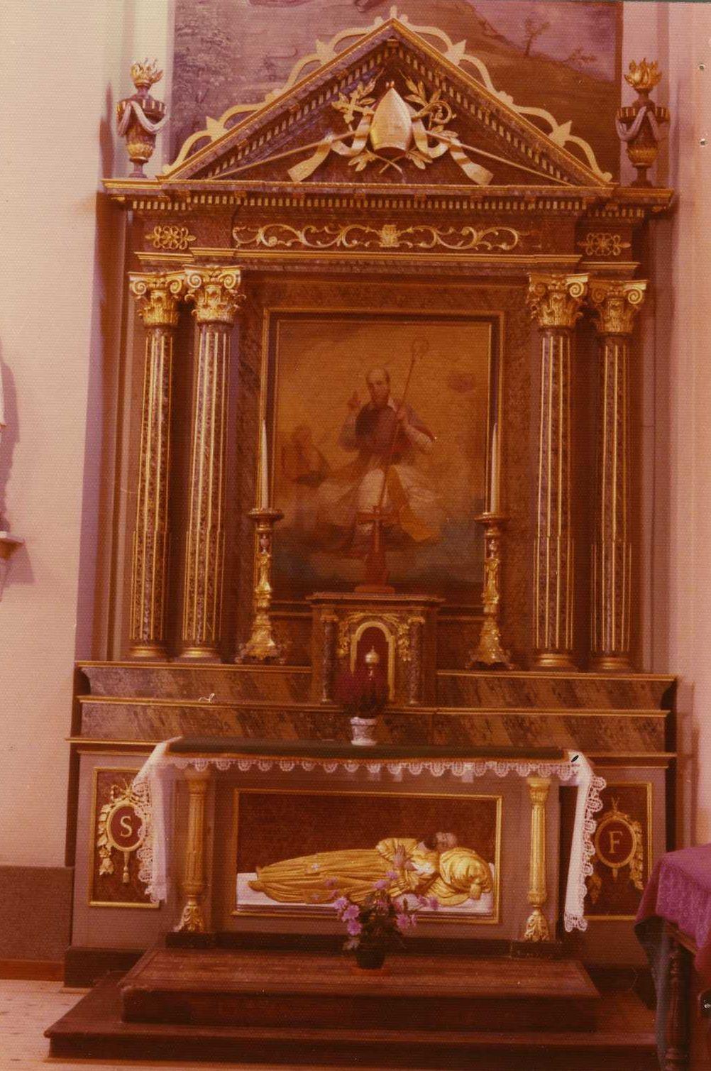 autel latéral et tableau : Saint François de Sales