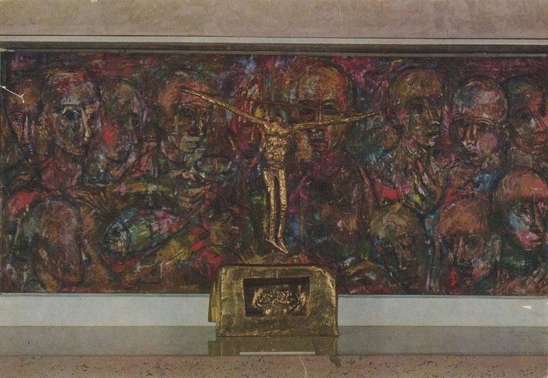 tabernacle, peinture monumentale: la dernière cène, vue générale