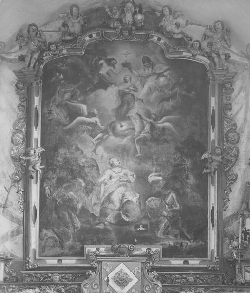 tableau du retable : impératrice Marie-Thérèse d'Autriche, reine de Bohème et de Hongrie et le duc François Etienne de Lorraine, grand duc de Toscane (L'), vue générale