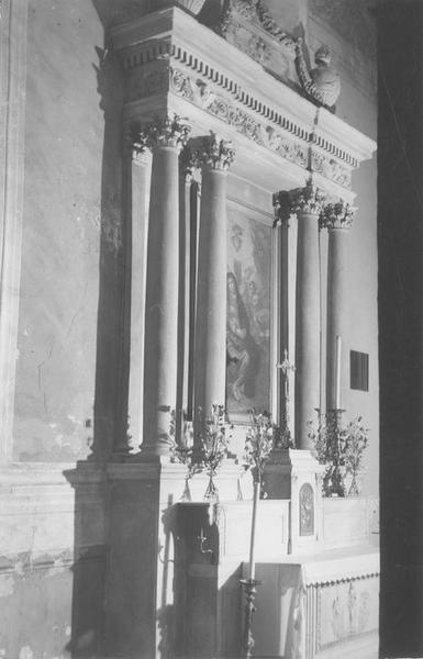 2 autels, 2 retables de la Compassion et de saint Claude