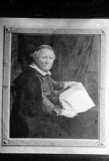 Gravure de Rembrandt : Portrait de son ami (bibliothèque du premier étage)