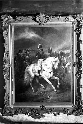 Peinture sur toile dans un cadre en bois doré Restauration, en attente de réparation : Portrait du duc d'Angoulême (salle à manger de la maison des Lierres)