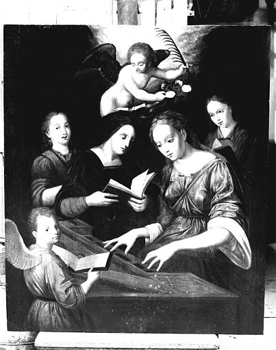 Panneau peint : Sainte Cécile