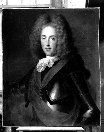 Portrait de Charles-Alexandre de Loraine fils de Léopold, gouverneur des pays Autrichiens, peinture sur toile