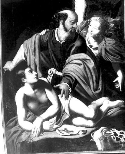 Sacrifice d'Abraham, peinture sur toile
