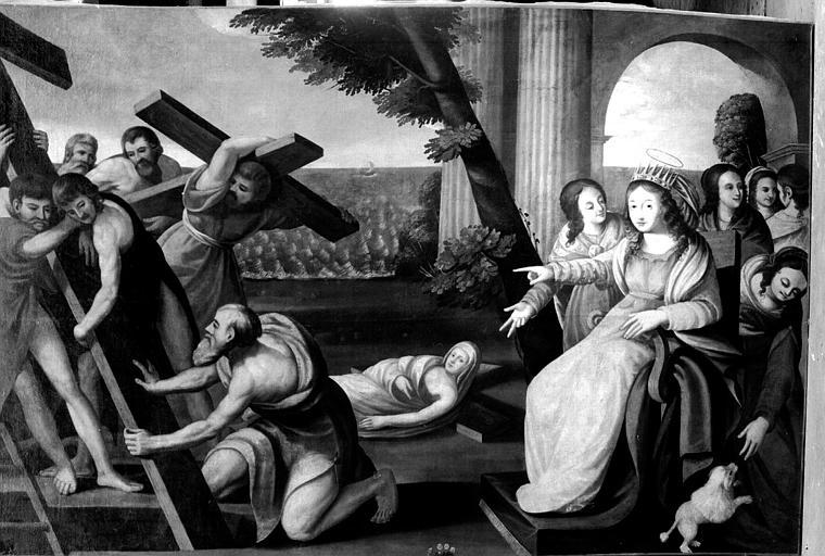 Invention de la Vraie Croix par sainte Hélène, peinture sur toile