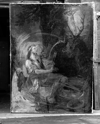 La Vision de saint Hubert, peinture sur toile