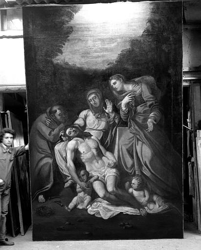 Pietà, peinture sur toile