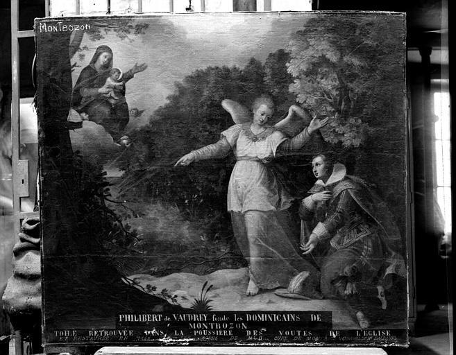 Philibert de Vaudrey fonde les Dominicains de Montbazon, peinture sur toile