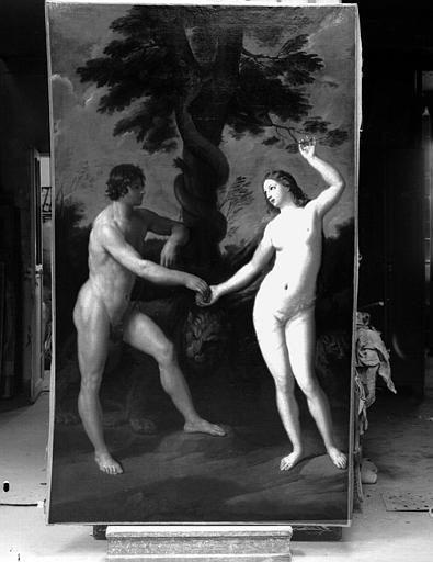 Adam et Eve, peinture sur toile de la galerie