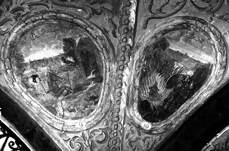 Narthex, peintures murales n°9, 10