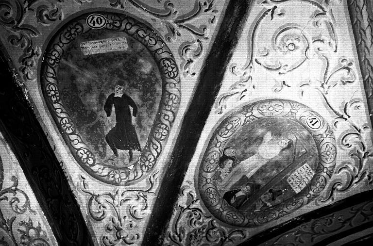 Narthex, peintures murales n°40, 41