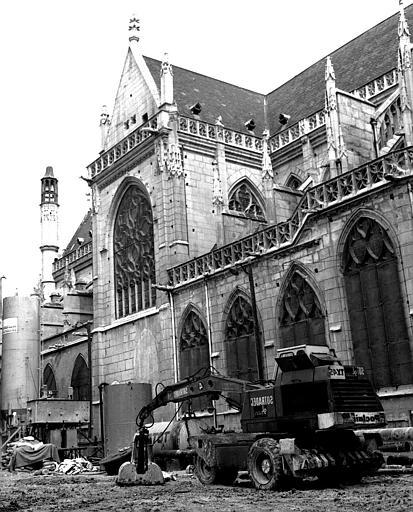 Façade nord, transept