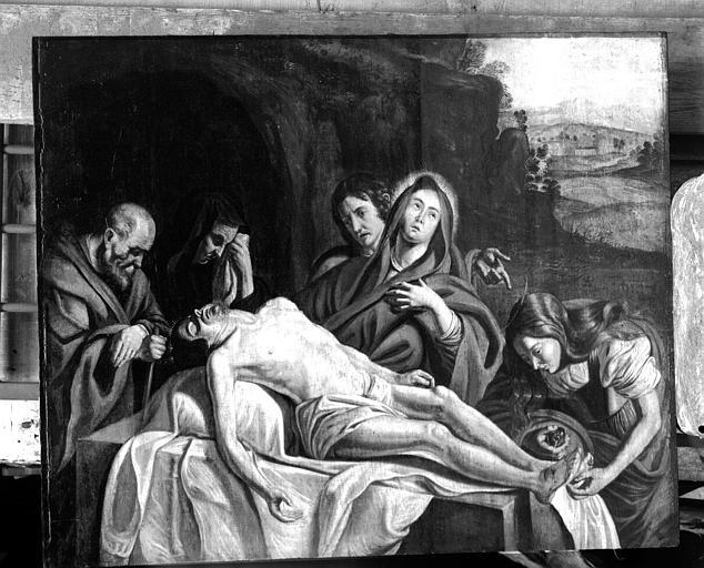 Déploration du Christ, panneau peint