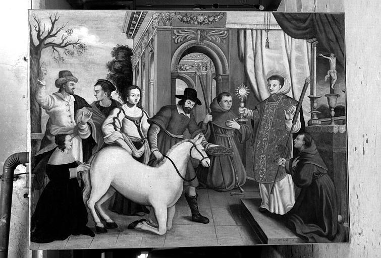 Le miracle de saint Antoine de Padoue, peinture sur toile