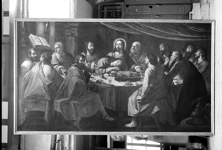 La Cène, peinture sur toile