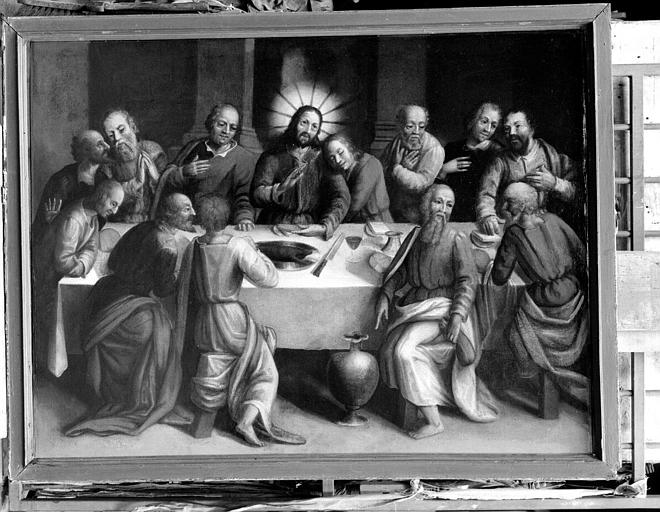 La Cène, peinture sur toile de la sacristie