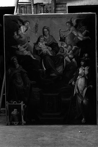 Le triomphe de la Vierge, peinture sur toile