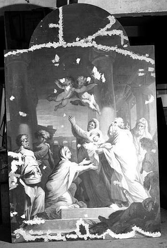 Toile du retable : La présentation au temple, maître-autel