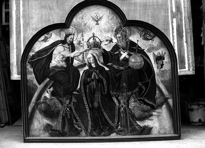 Panneau peint : Couronnement de la Vierge