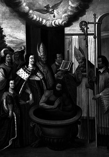 Le baptême de Clovis, peinture sur toile