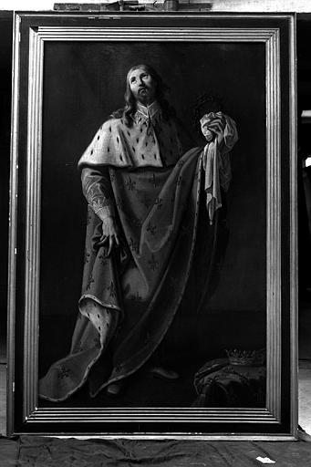Saint Romary fondateur de l'abbaye de Remiremont, peinture sur toile