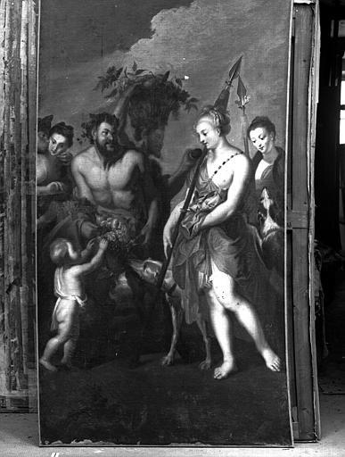 Bacchanale, peinture sur toile de la galerie de Diane