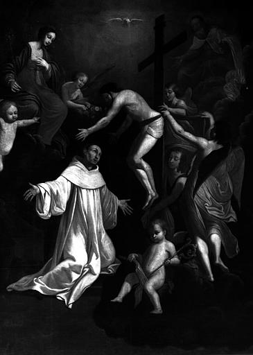 La vision de saint Bernard, peinture sur toile