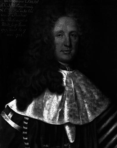 Monseigneur Benigne Chasot, Président du parlement de Metz de 1717 à 1728, peinture sur toile