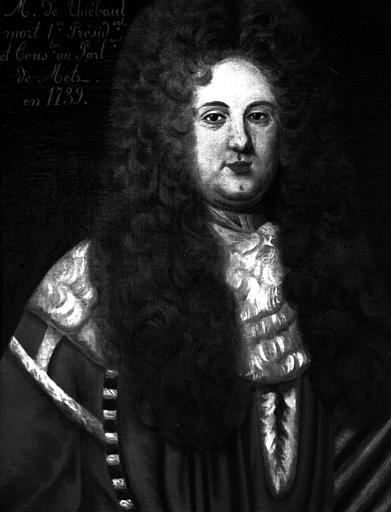 Monsieur de Thiébaut, Premier président et conseiller au parlement de Metz, 1739, peinture sur toile