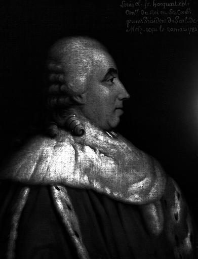 Louis-Cl.-Fr. Hocquart, Premier président du parlement de Metz, 1783, peinture sur toile