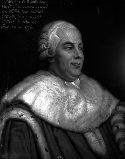 Nicolas de Montholon, Président au parlement de Metz, 1765 et Président au parlement de Rouen, 1775, peinture sur toile