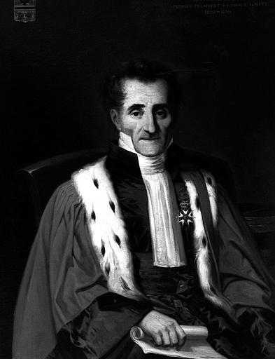 J.-F. Gibert Gérard, Premier président de la cours de Metz de 1820 à 1830, peinture sur toile
