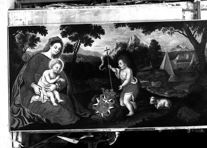Vierge à l'Enfant et saint Jean-Baptiste, peinture sur toile
