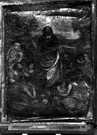 Scène de prédication, peinture sur toile de l'autel latéral sud
