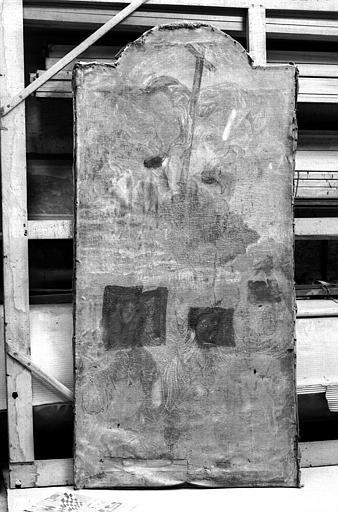 Saint Etienne, peinture sur toile de l'autel latéral sud
