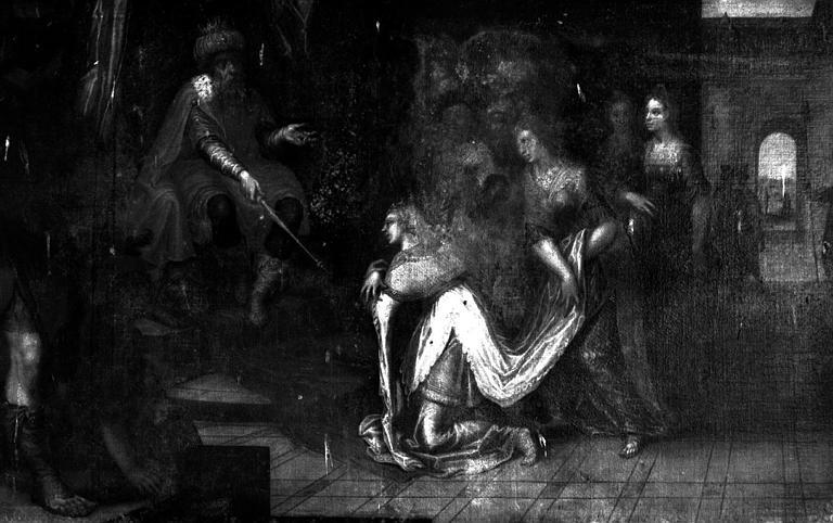 Esther devant Assuerus, peinture sur toile