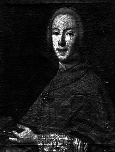 Portrait de Guillaume Florentin, prince de Salm, évêque de Tournon, peinture sur toile
